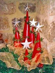 Themed christmass party deco