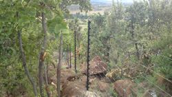 Freestand Electric Fence over rocks