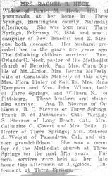 Heck, Rachel Stevens 1906