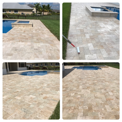 Travertine Re-Sand and Sealing