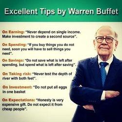Tips from Warren Buffet