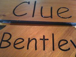 Clue's name plate