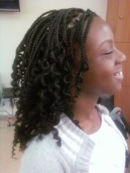 Box Plaits with Curly ends