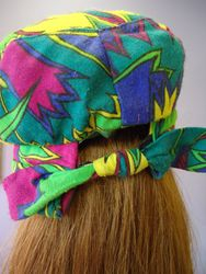 Vintage Multi Colored African Style Back View