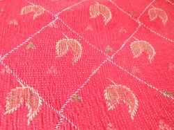 detail of a Kantha stitched quilt