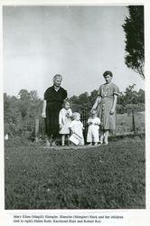 Mary Ellen Shingler with her grandchildren