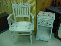 chair with telephone table