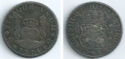 1771 Mexico, Charles III, 8 Reales