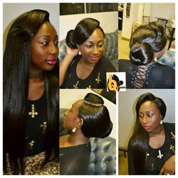curved part tree braids using xpression hair