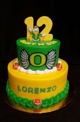 Oregon Ducks Cake