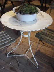 #14/037 White Metal Garden Table SOLD