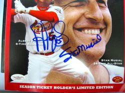 Stan Musial and Albert Pujols Autographed 2009 All Star Program
