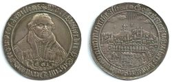 1661 Martin Luther, Naumburg Convention, 1/2 Thaler