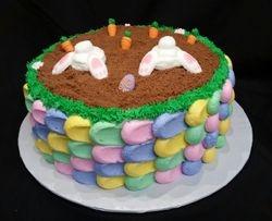 Bunny Butt Cake for Easter