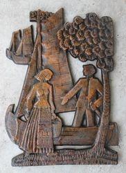 Bareljefas Prie laivo. Kaina 13