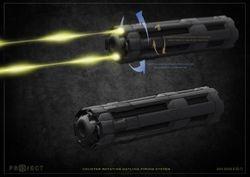 Gatling gun details