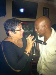 Norma & Darren bringing sexy back at Legendary Friday Night Karaoke! This song brought the house down!!