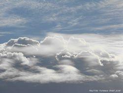 I dream of clouds (cumulus, altocumulus and wave clouds)