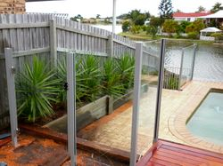 Semi frameless Glass Pool Fencing