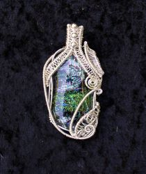 Dichroic in Sterling Silver