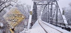 Tracks thru Snow in Rockville