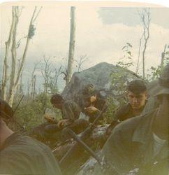3rd platoon having lunch