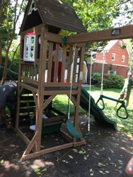 KidKraft Lindale swing set assembly in Annapolis Maryland