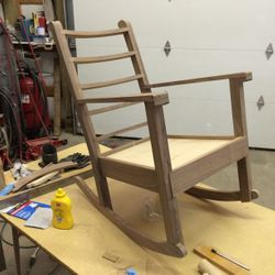 All glued except the secondary rocker pieces.