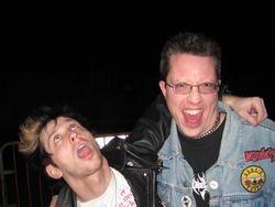 Ryan Switzer(left) of the Stun Gunz with Karl