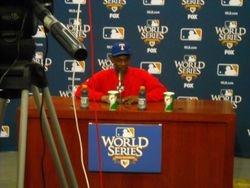Ron Washington press conference at World Series