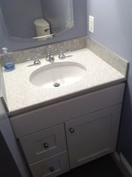 Vanity and tile work