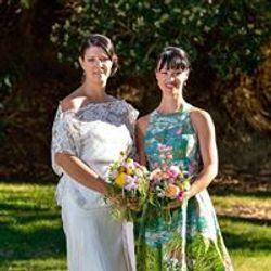 Beautiful Canadian bride and bridesmaide