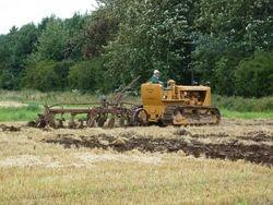 Caterpillar D6 ploughing