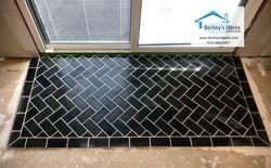 Herringbone tile entry