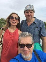 With Nika & Arkadij, Naples, 2018.