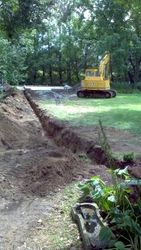 Trenching for Power out to Garage