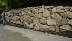 Large Drylaid Boulder Wall