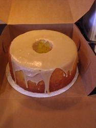 Pound Cake with Caramel Glaze