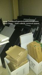 Junk office cubicle removal in Bowie MD