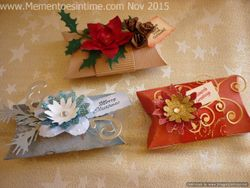 Frayed Floral Decorated Pillow Boxes