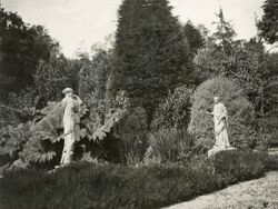 The statues at pond D. c.1936