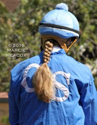 Jockey Rosie Higgins' Braid