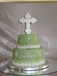 Greek Orthodox Baptism Cake