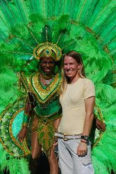 Tess (one of the GSPCA vets) with one of the carnival queens