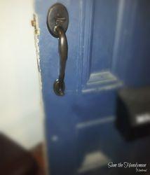 Old door repaired