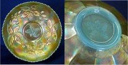 Autumn Acorns ice cream shape bowl, persian blue