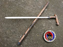 Custom Made Walking Cane with 22 Inches Blade