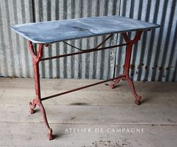 #26/093A FRENCH BRASERRIE TABLE RED