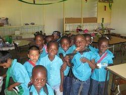 2010 De leerlingen in hun nieuw leslokaal