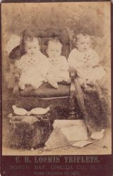 C. H. Loomis Triplets of Oneida Co., NY